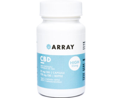 array capsules, 25mg cbd capsules
